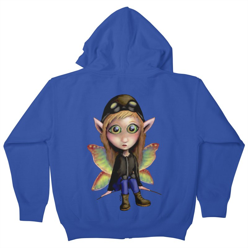 Fairy Aviator Kids Zip-Up Hoody by Trick's Place's Artist Shop