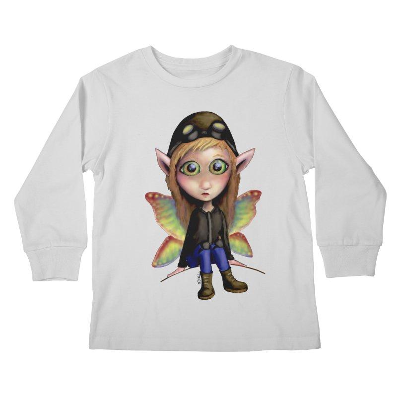 Fairy Aviator Kids Longsleeve T-Shirt by Trick's Place's Artist Shop