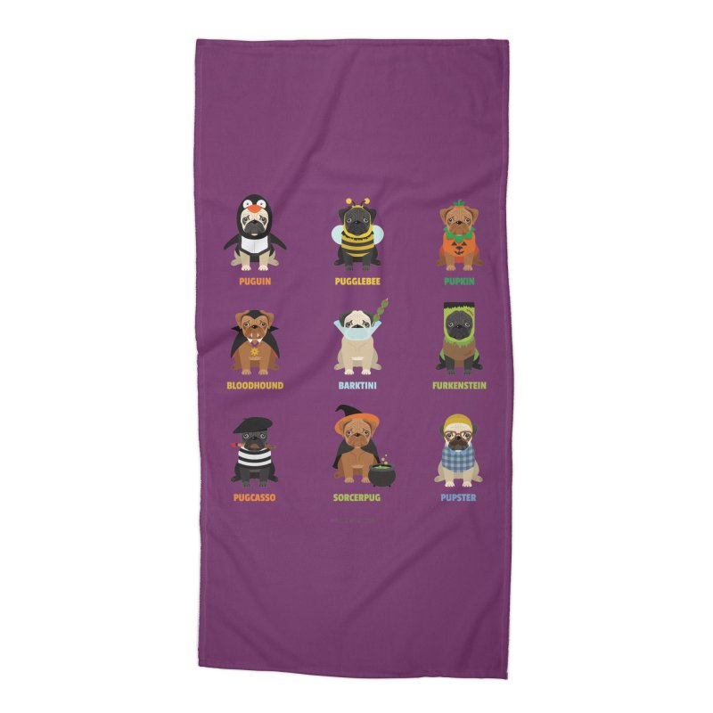 A Very Pug-o-ween Accessories Beach Towel by Trillion's Shop