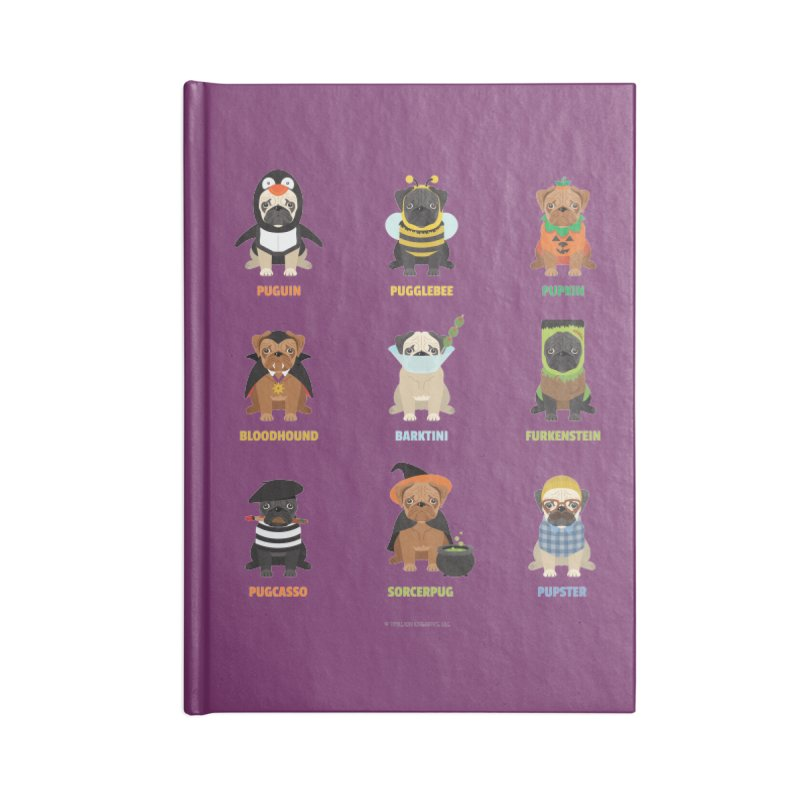 A Very Pug-o-ween Accessories Notebook by Trillion's Shop