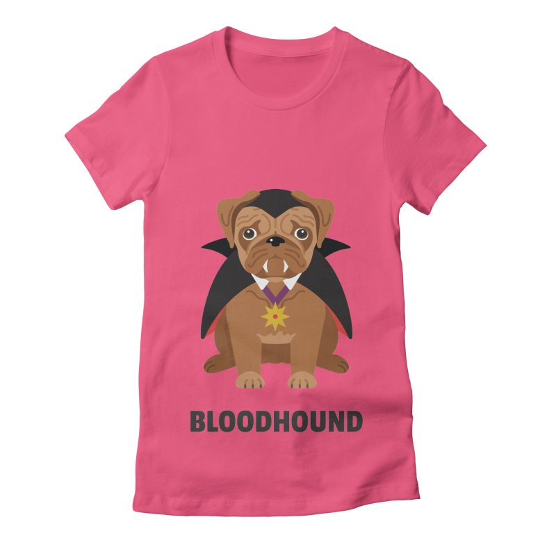 Bloodhound Women's Fitted T-Shirt by Trillion's Shop