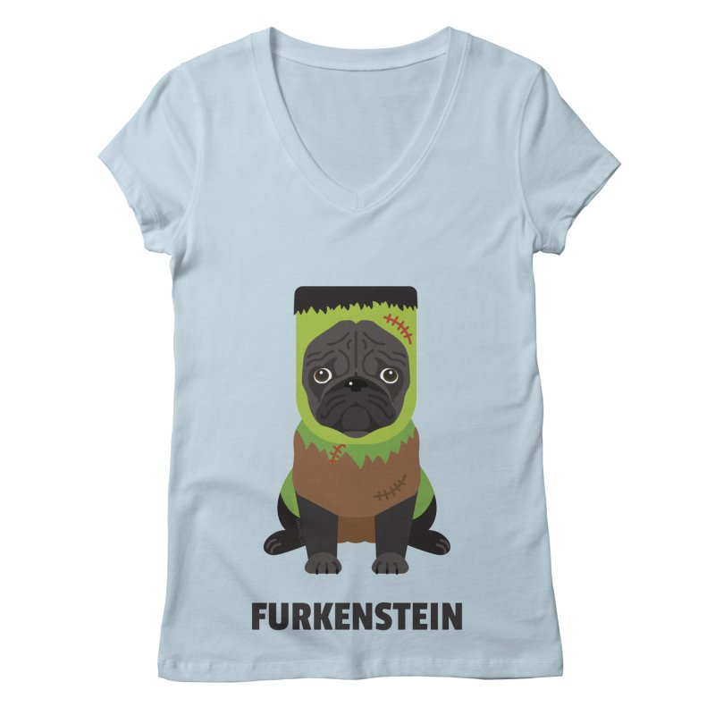 Furkenstein Women's V-Neck by Trillion's Shop