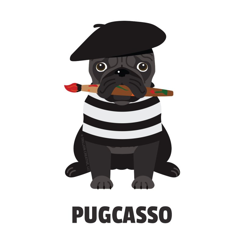 Pugcasso None  by Trillion's Shop