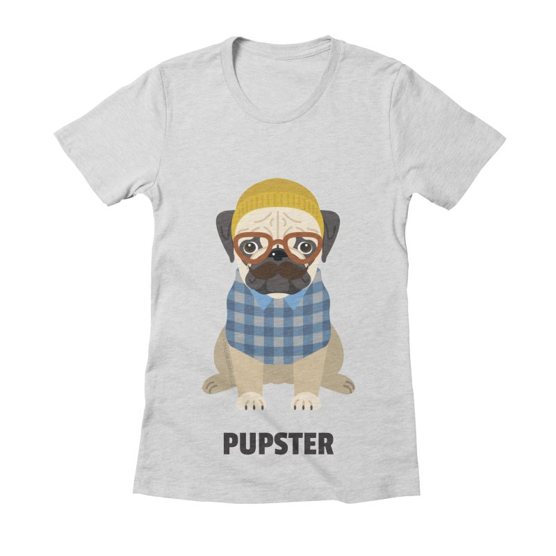 Pupster Women's Fitted T-Shirt by Trillion's Shop