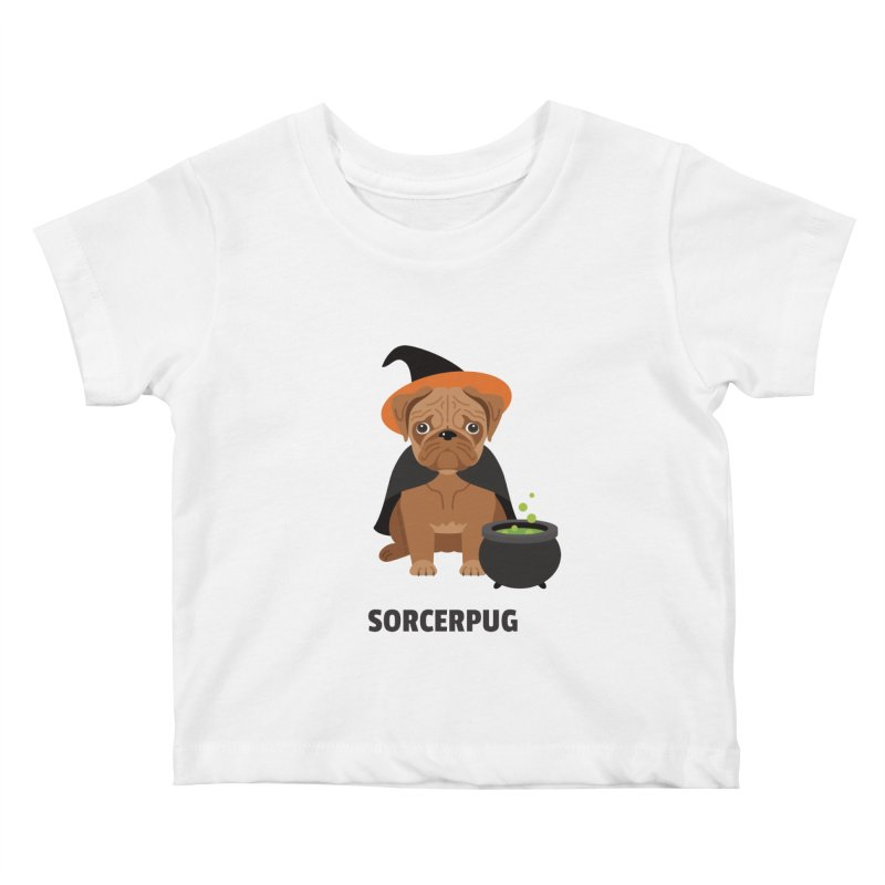 Sorcerpug Kids Baby T-Shirt by Trillion's Shop