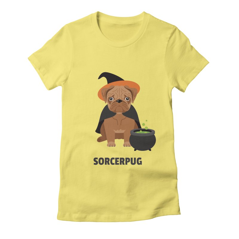 Sorcerpug Women's Fitted T-Shirt by Trillion's Shop