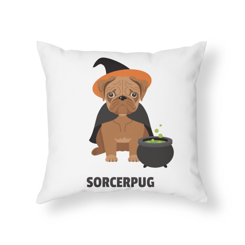 Sorcerpug Home Throw Pillow by Trillion's Shop