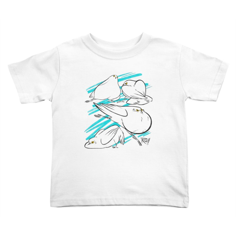 MASSIVE PIGEONS Kids Toddler T-Shirt by Tripleta Studio Shop