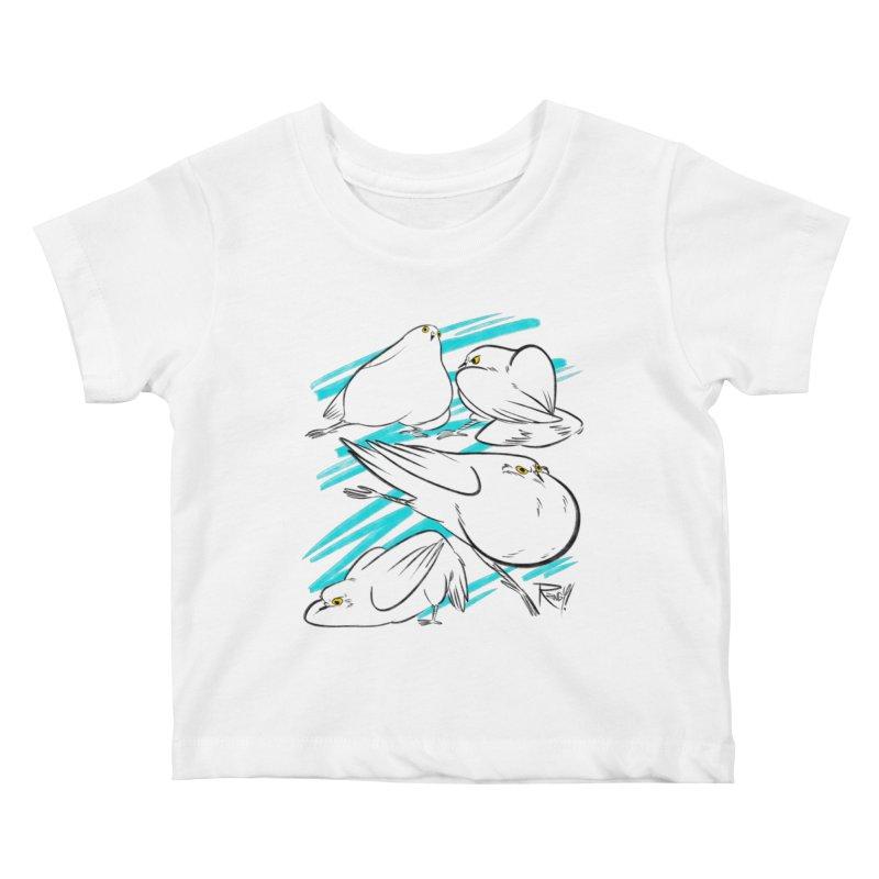 MASSIVE PIGEONS Kids Baby T-Shirt by Tripleta Studio Shop