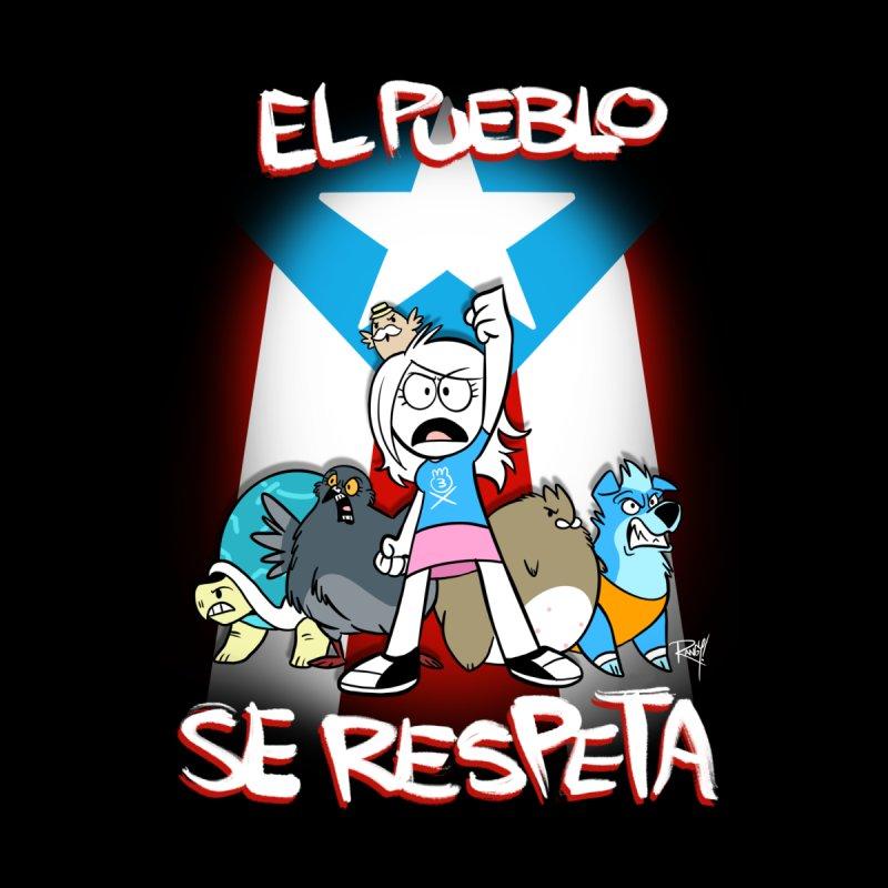 EL PUEBLO SE RESPETA Men's T-Shirt by Tripleta Studio Shop