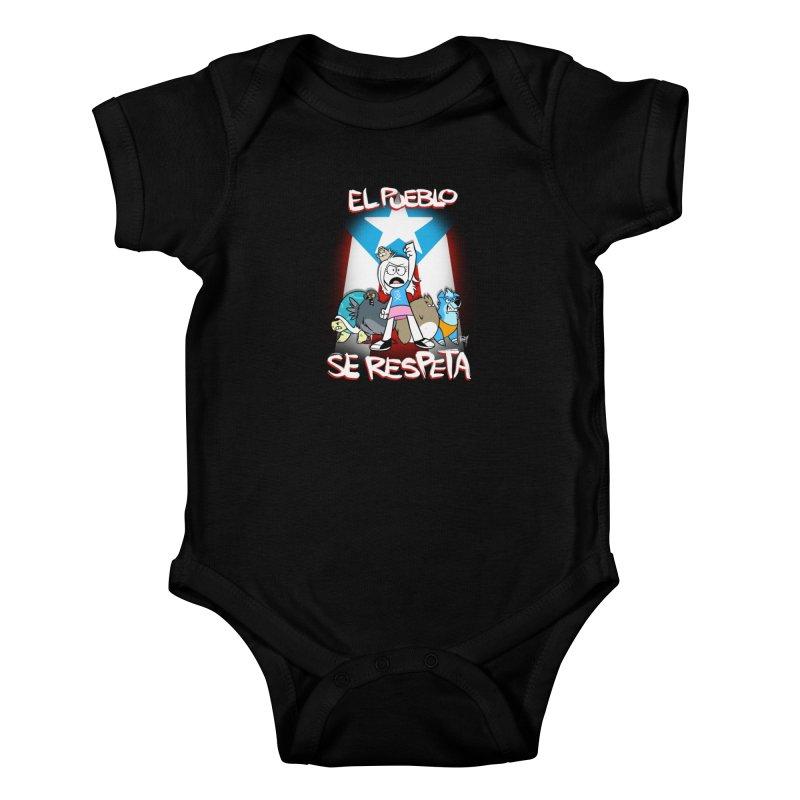 EL PUEBLO SE RESPETA Kids Baby Bodysuit by Tripleta Studio Shop