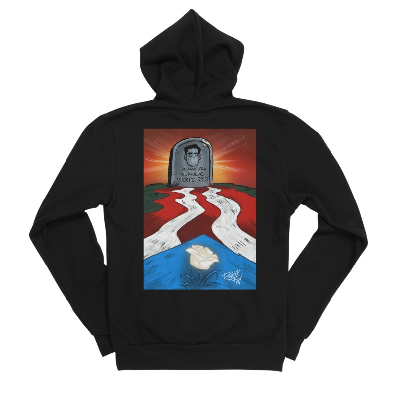 EL NUEVO PUERTO RICO Men's Sponge Fleece Zip-Up Hoody by Tripleta Studio Shop