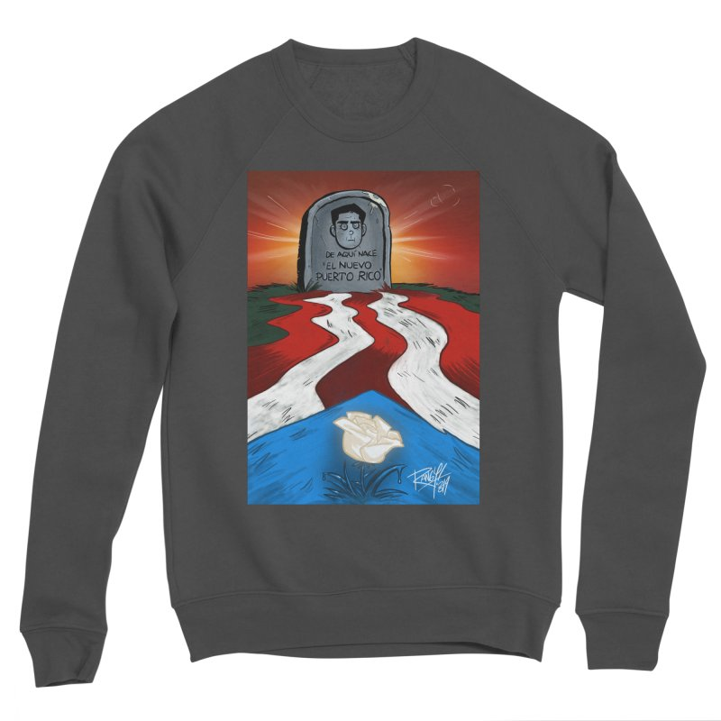 EL NUEVO PUERTO RICO Women's Sponge Fleece Sweatshirt by Tripleta Studio Shop