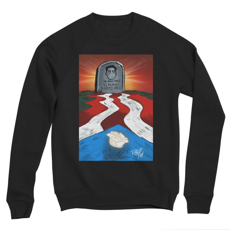 EL NUEVO PUERTO RICO Men's Sponge Fleece Sweatshirt by Tripleta Studio Shop