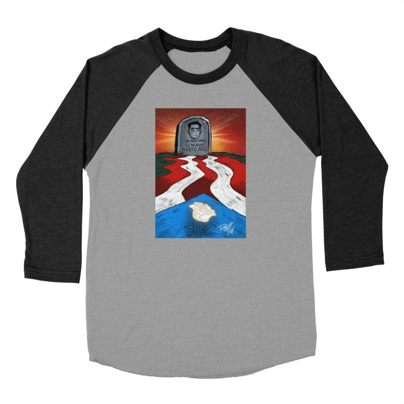 EL NUEVO PUERTO RICO Men's Baseball Triblend Longsleeve T-Shirt by Tripleta Studio Shop