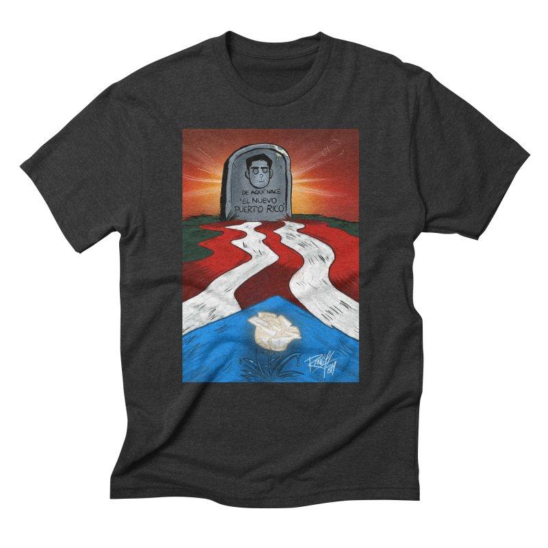 EL NUEVO PUERTO RICO Men's Triblend T-Shirt by Tripleta Studio Shop