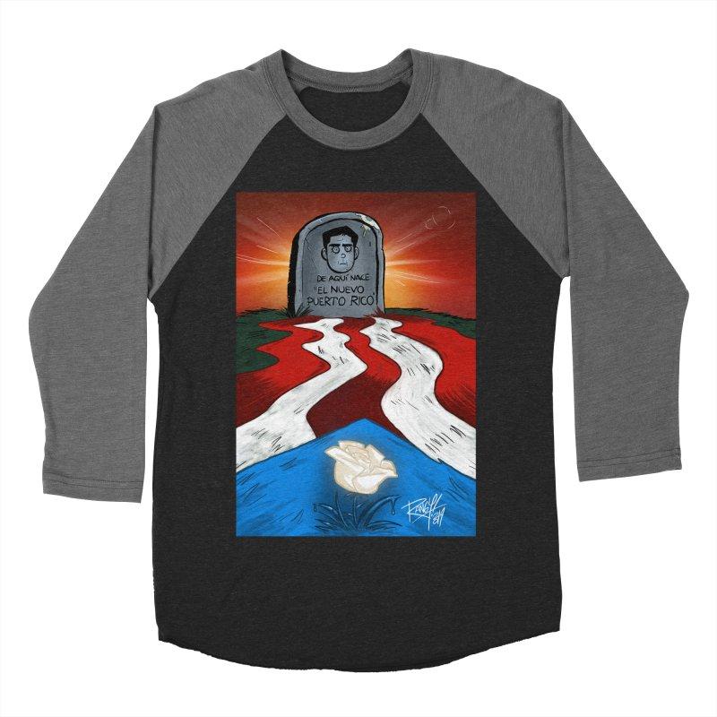EL NUEVO PUERTO RICO Women's Baseball Triblend Longsleeve T-Shirt by Tripleta Studio Shop