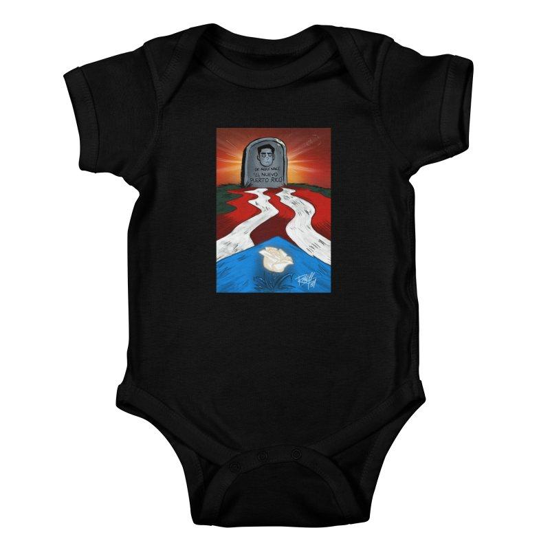 EL NUEVO PUERTO RICO Kids Baby Bodysuit by Tripleta Studio Shop