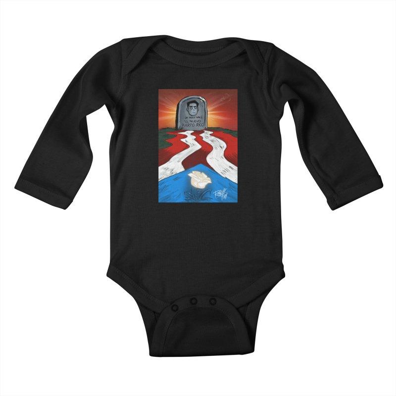 EL NUEVO PUERTO RICO Kids Baby Longsleeve Bodysuit by Tripleta Studio Shop
