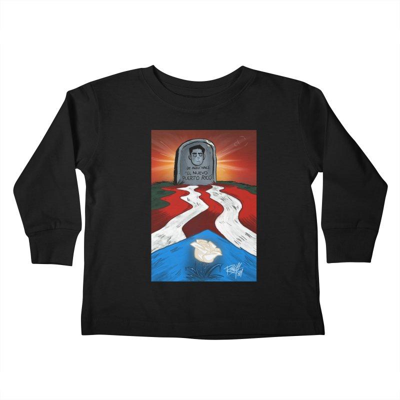 EL NUEVO PUERTO RICO Kids Toddler Longsleeve T-Shirt by Tripleta Studio Shop