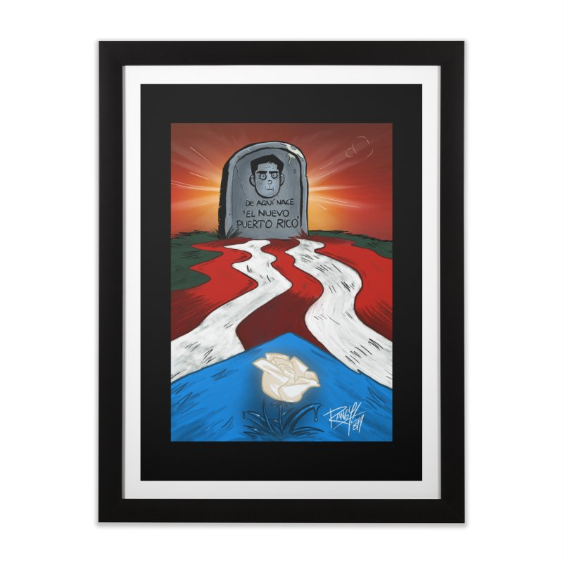 EL NUEVO PUERTO RICO Home Framed Fine Art Print by Tripleta Studio Shop