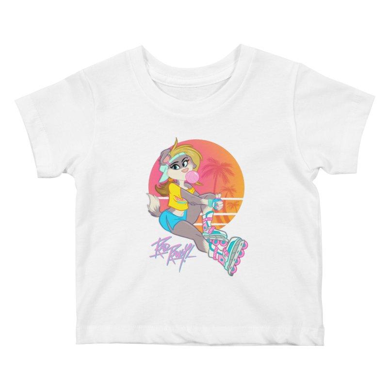 ROLLERPET Kids Baby T-Shirt by Tripleta Studio Shop