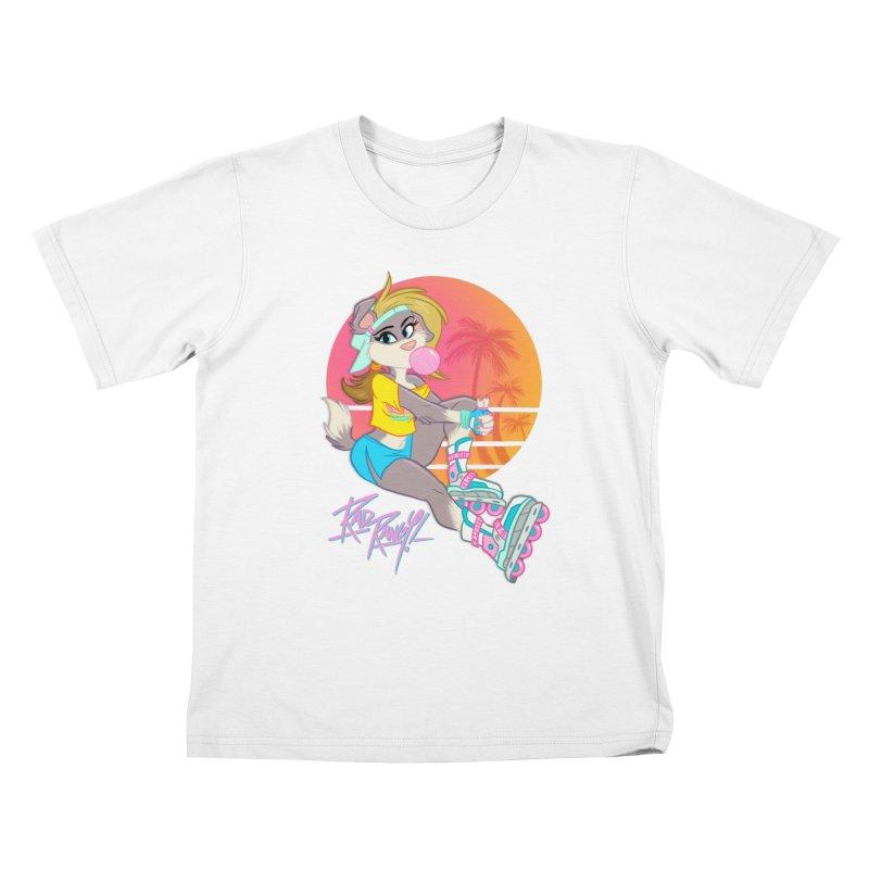 ROLLERPET Kids T-Shirt by Tripleta Studio Shop