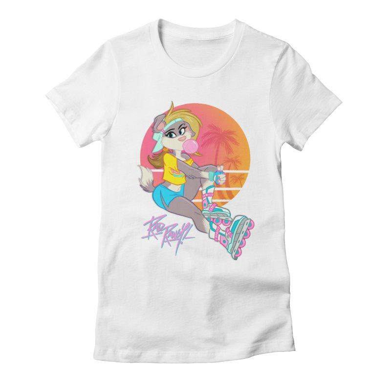 ROLLERPET Women's Fitted T-Shirt by Tripleta Studio Shop