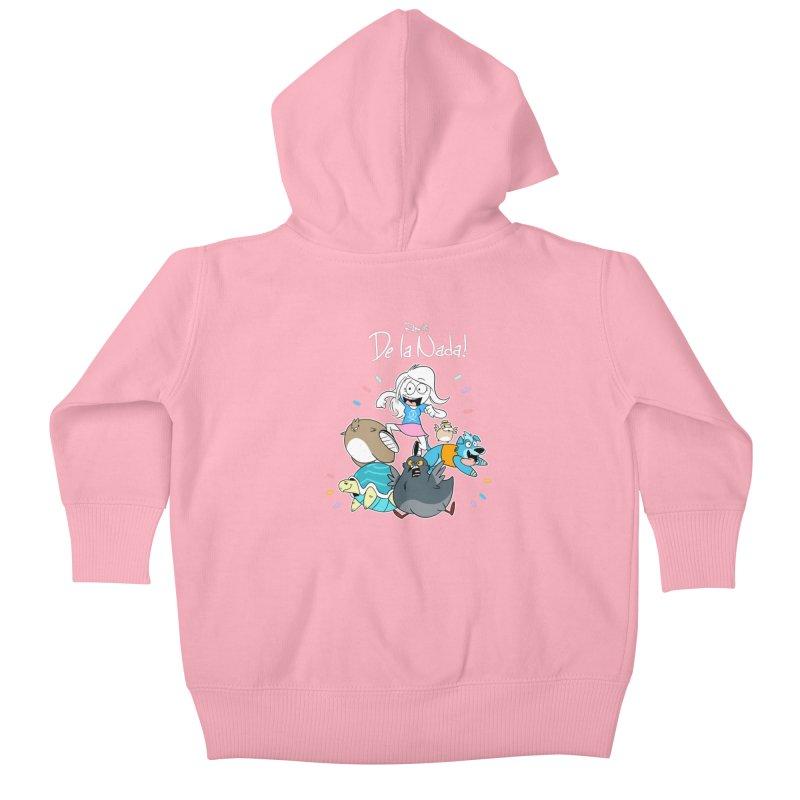 DE LA NADA CORILLO Kids Baby Zip-Up Hoody by Tripleta Studio Shop