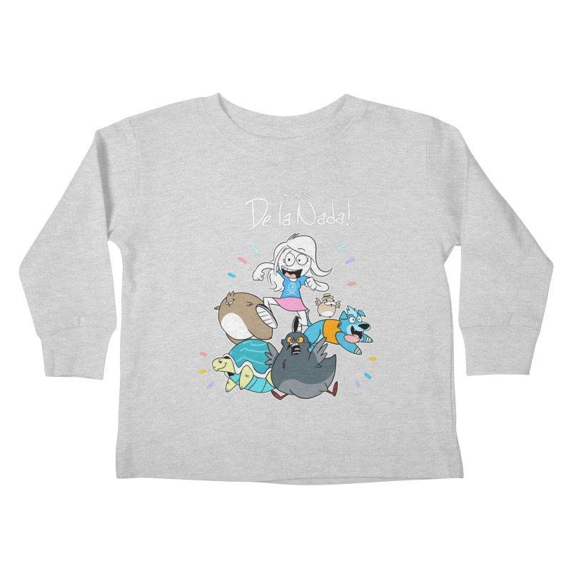 DE LA NADA CORILLO Kids Toddler Longsleeve T-Shirt by Tripleta Studio Shop