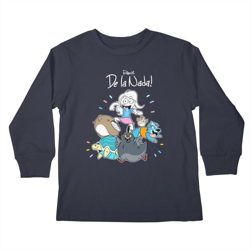 DE LA NADA CORILLO Kids Longsleeve T-Shirt by Tripleta Studio Shop