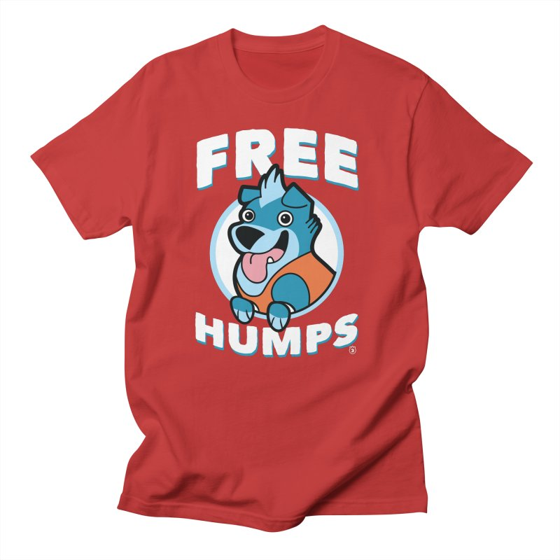 FREE HUMPS in Men's Regular T-Shirt Red by Tripleta Studio Shop