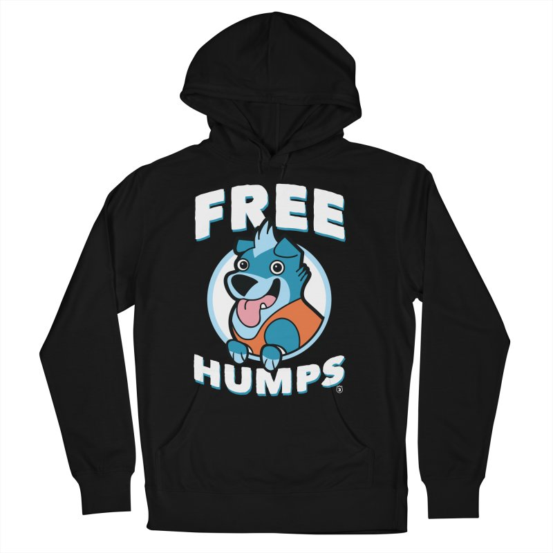 FREE HUMPS Men's French Terry Pullover Hoody by Tripleta Gourmet Clothing