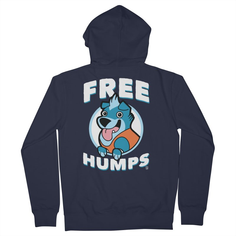 FREE HUMPS Women's French Terry Zip-Up Hoody by Tripleta Gourmet Clothing