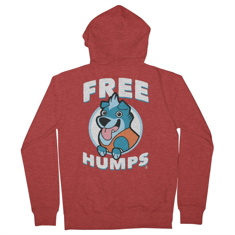 FREE HUMPS Men's Zip-Up Hoody by Tripleta Gourmet Clothing