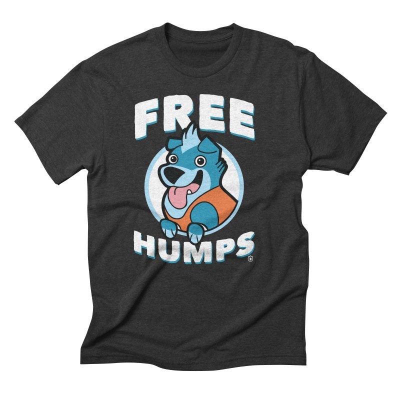 FREE HUMPS Men's Triblend T-Shirt by Tripleta Gourmet Clothing