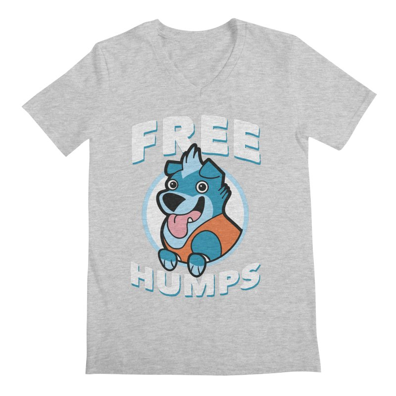 FREE HUMPS Men's Regular V-Neck by Tripleta Gourmet Clothing
