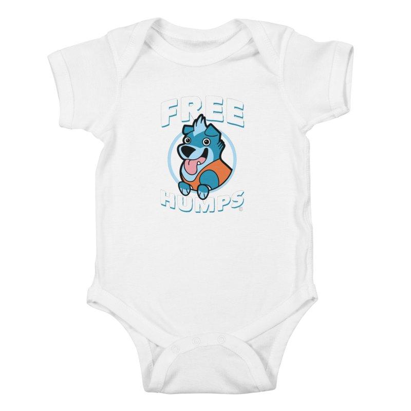 FREE HUMPS Kids Baby Bodysuit by Tripleta Gourmet Clothing