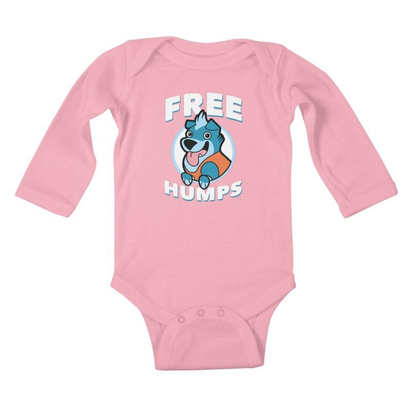 FREE HUMPS Kids Baby Longsleeve Bodysuit by Tripleta Gourmet Clothing