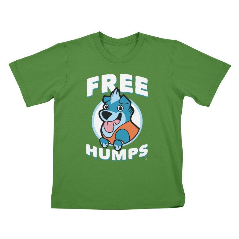 FREE HUMPS Kids T-Shirt by Tripleta Gourmet Clothing