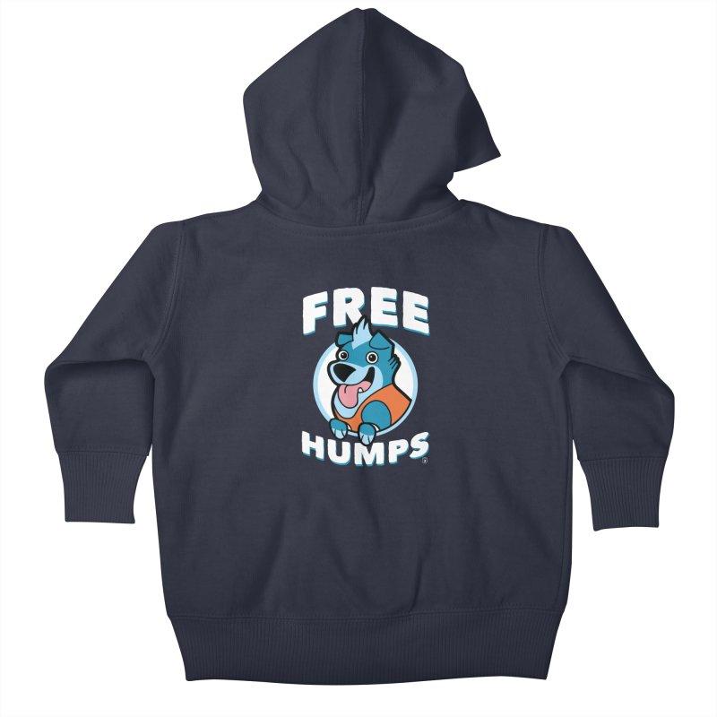 FREE HUMPS Kids Baby Zip-Up Hoody by Tripleta Gourmet Clothing