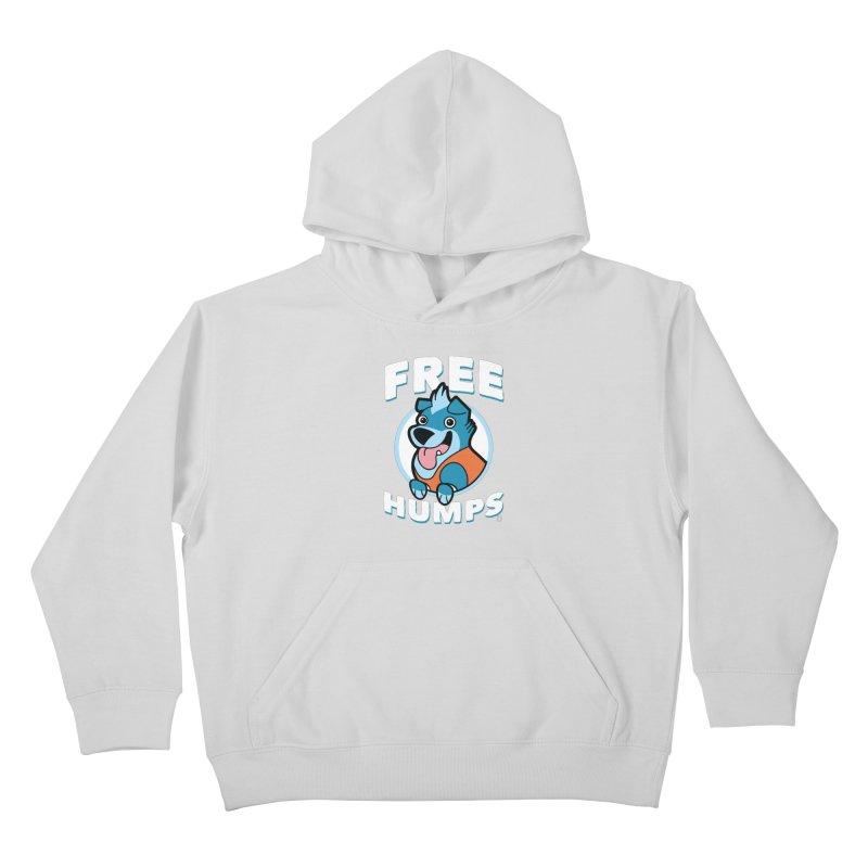 FREE HUMPS Kids Pullover Hoody by Tripleta Gourmet Clothing