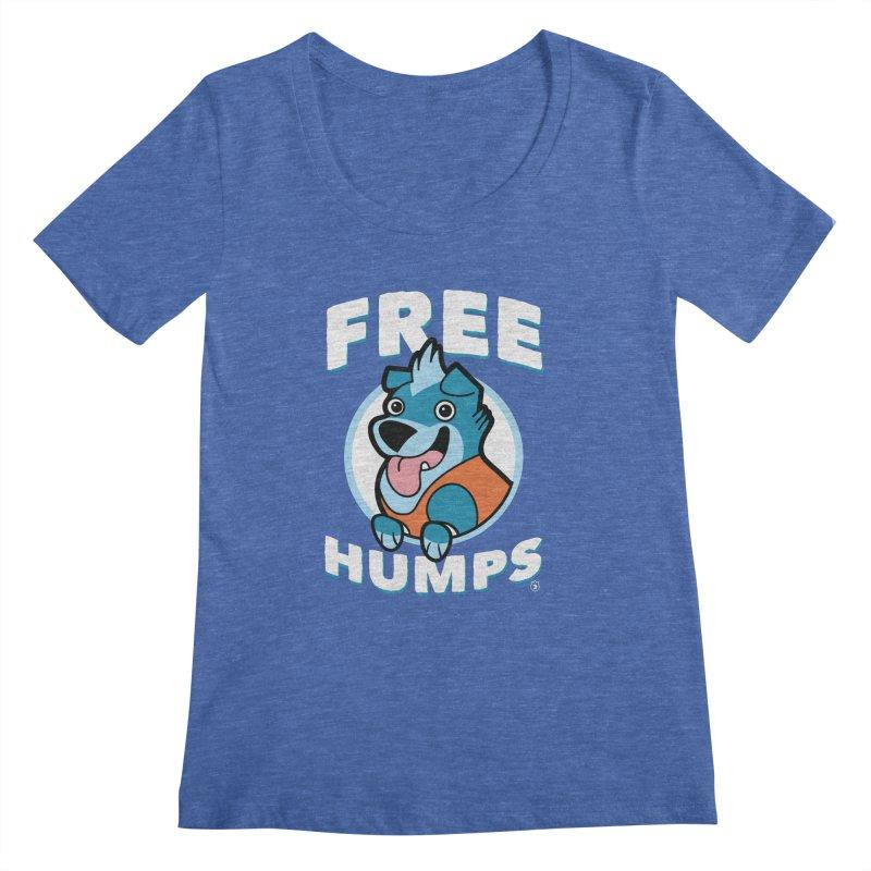 FREE HUMPS Women's Scoopneck by Tripleta Gourmet Clothing