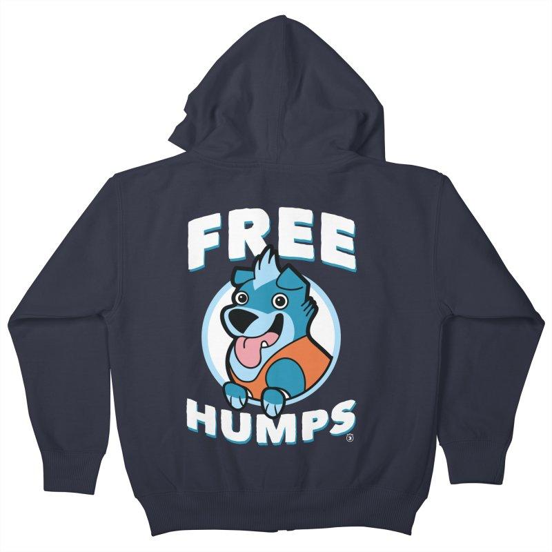 FREE HUMPS Kids Zip-Up Hoody by Tripleta Gourmet Clothing