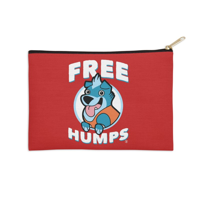 FREE HUMPS Accessories Zip Pouch by Tripleta Gourmet Clothing