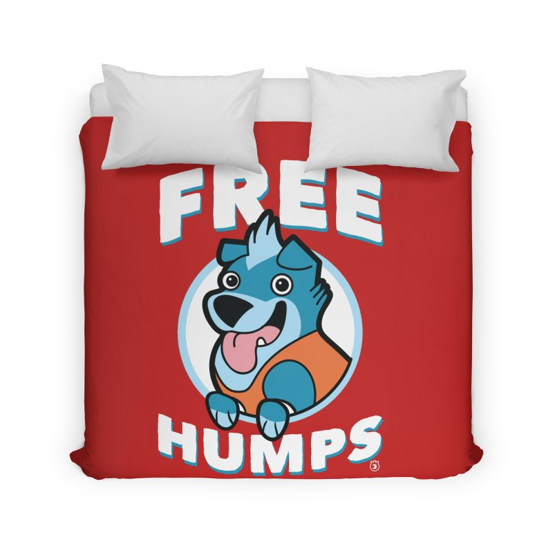 FREE HUMPS Home Duvet by Tripleta Gourmet Clothing