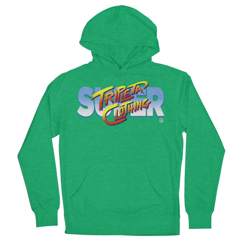 SUPER TRIPLETA FIGHTER Women's Pullover Hoody by Tripleta Gourmet Clothing