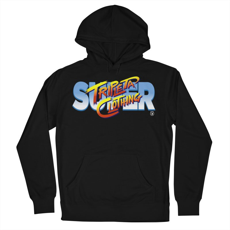 SUPER TRIPLETA FIGHTER Women's French Terry Pullover Hoody by Tripleta Gourmet Clothing
