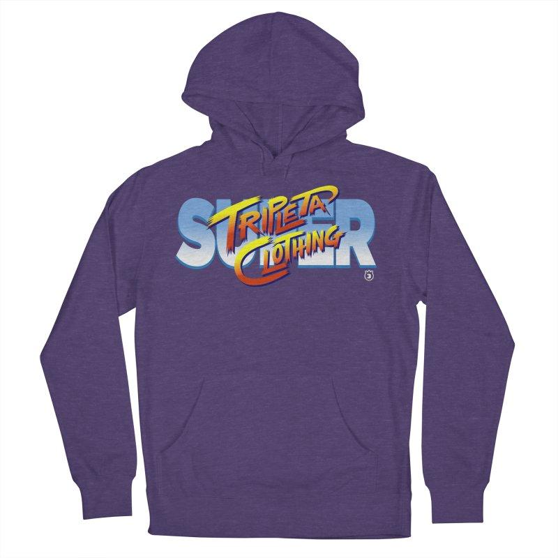 SUPER TRIPLETA FIGHTER Men's Pullover Hoody by Tripleta Gourmet Clothing