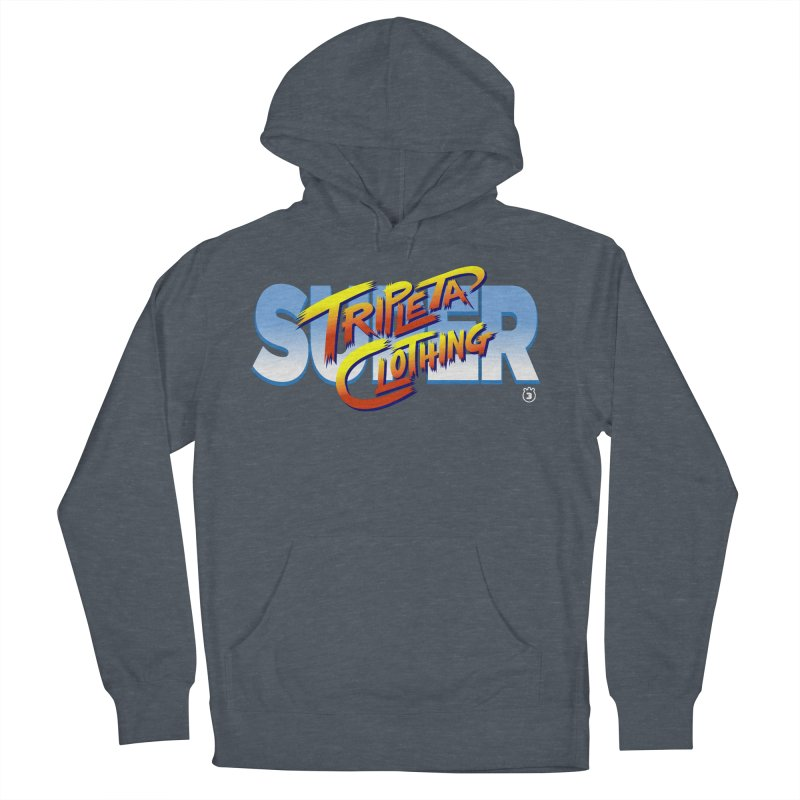 SUPER TRIPLETA FIGHTER Men's French Terry Pullover Hoody by Tripleta Studio Shop